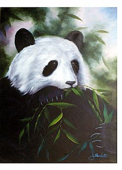 Bob Ross How-To Painting Packet Wildlife Panda