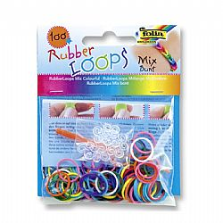 Folia Rubber Loops Mix Bunt