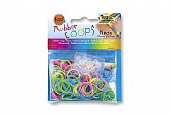 Folia Rubber Loops Neon Glow in the Dark