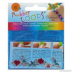 Folia Rubber Loops Charms Sparkle
