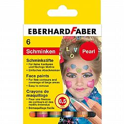 Σετ 6 Pearl Face Paint Sticks Eberhard Faber