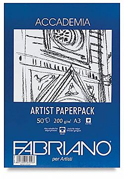 Fabriano Accademia Artist Paperpack A4 200gr.